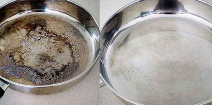 Viņš vienkārši apbēra pannu ar sāli. Tagad es daru tikai tā