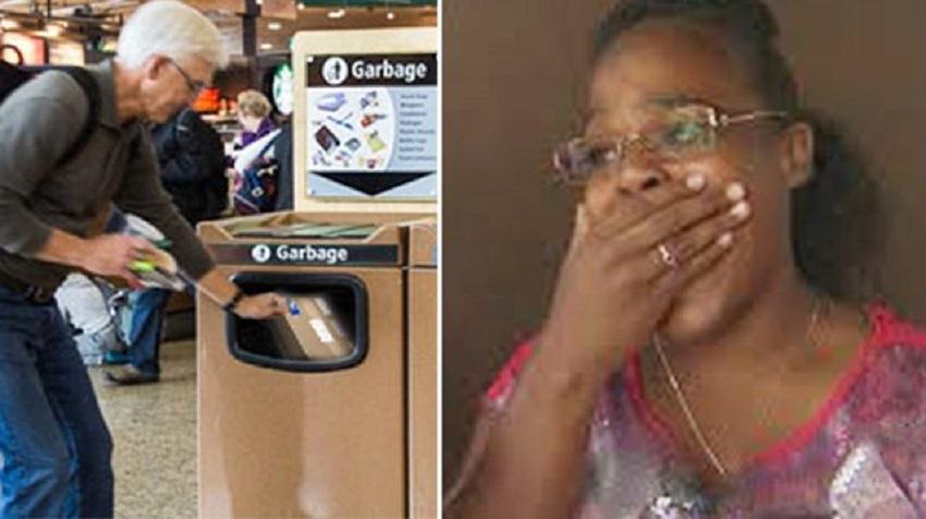 Meitene redzēja, kā raudošs, vecs vīrs kaut ko izmet atkritumos. Kad viņa to paņēma, viņas sirds bija salauzta