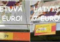 Absurds! Identiskas konfektes: Lietuvā maksā – 3 eiro, Latvijā – gandrīz 7 eiro